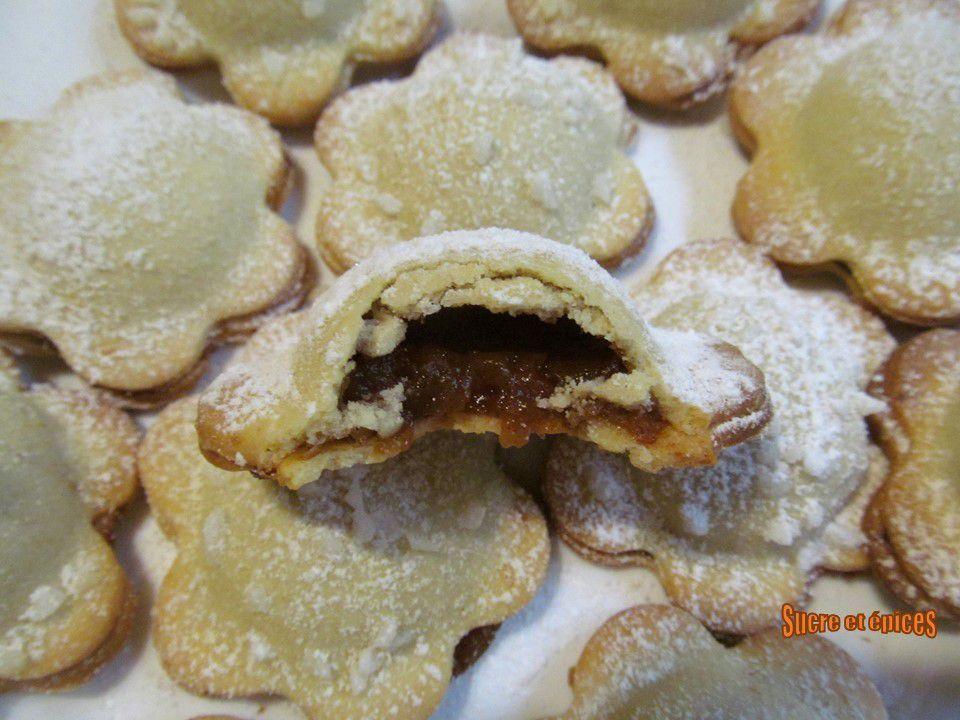 Biscuits sablés fourrés aux pommes