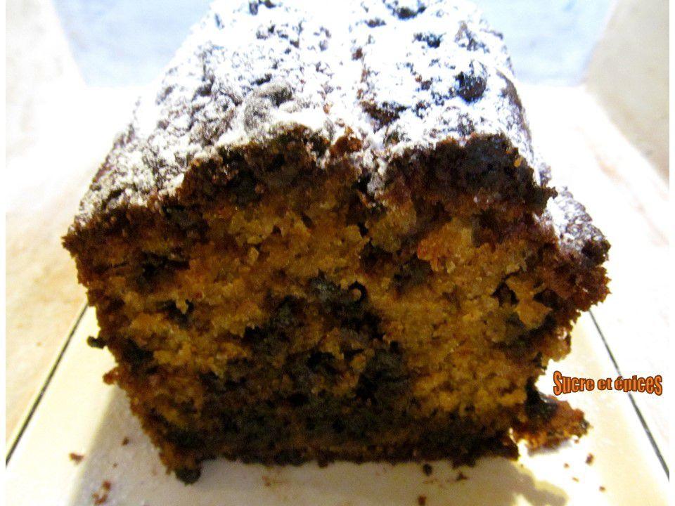 Cake à la banane avec des pépites de chocolat