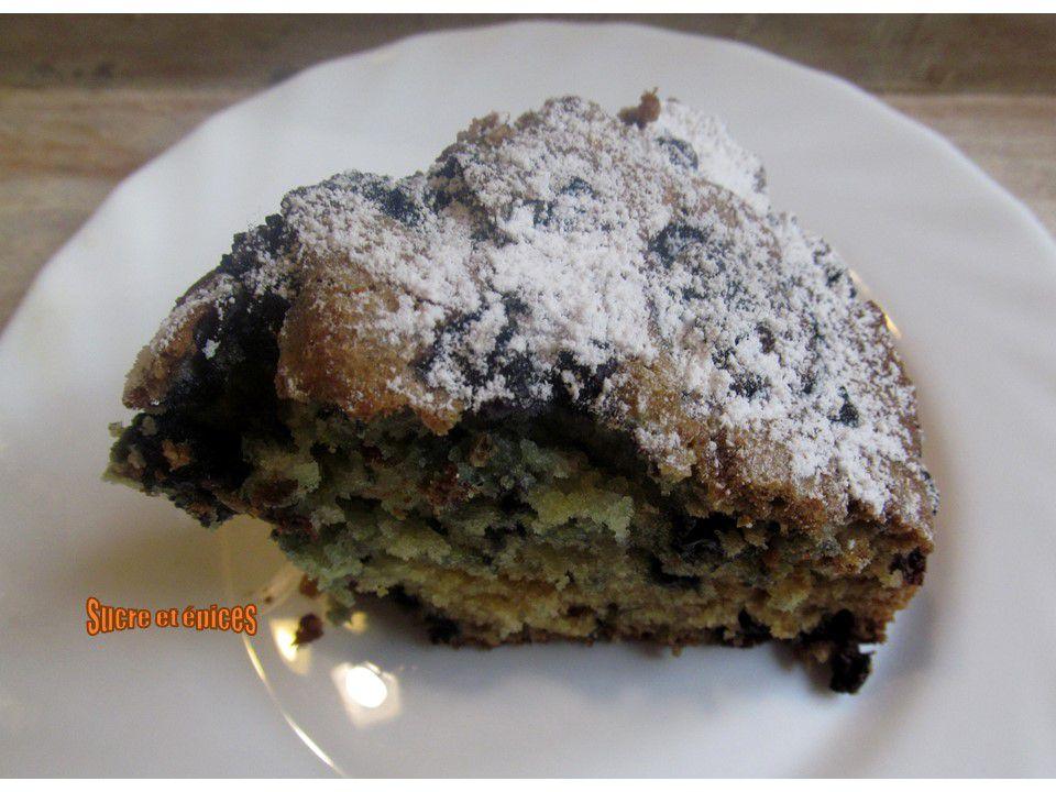 Gâteau aux myrtilles et au citron