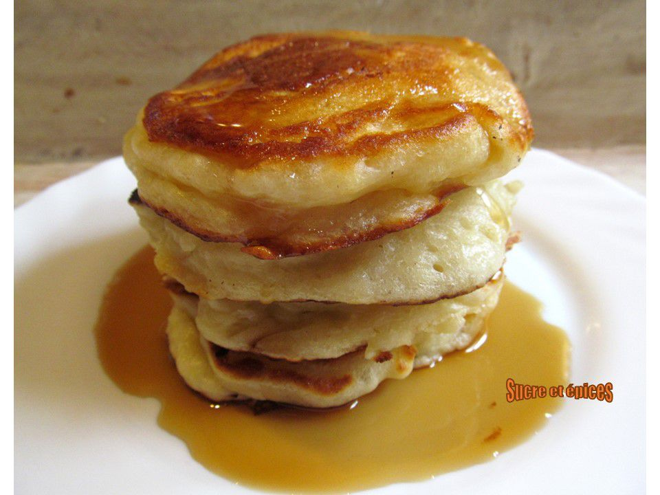 Pancakes légers et moelleux aux petits suisses
