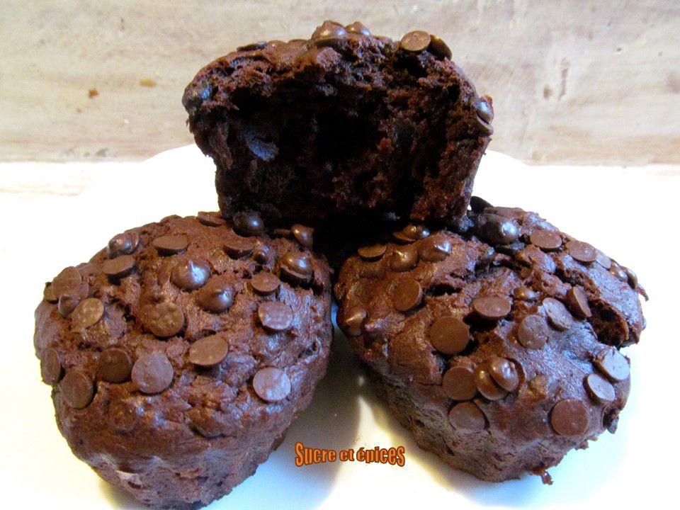 Muffins très chocolatés à la banane