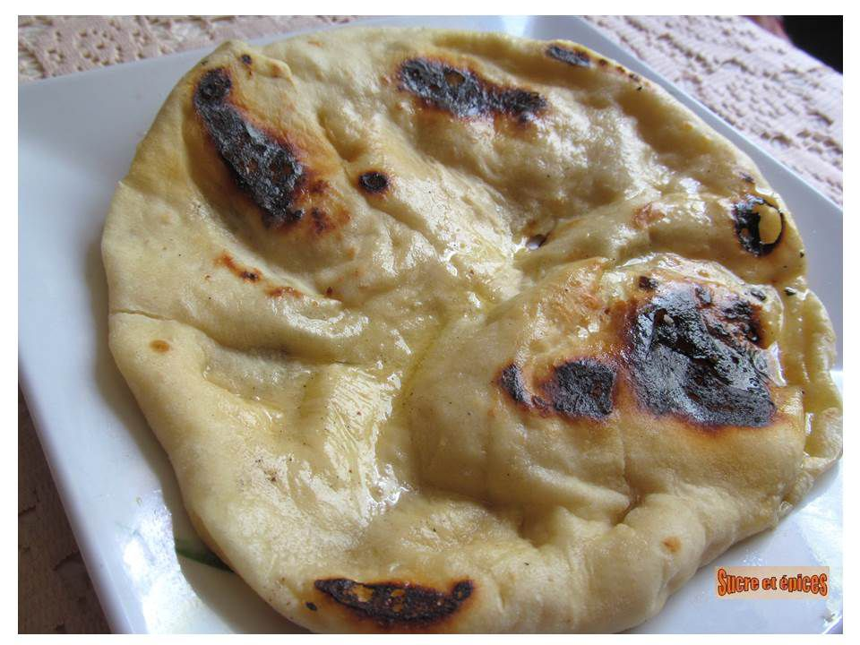 Naans indiens au fromage - Cheese naans