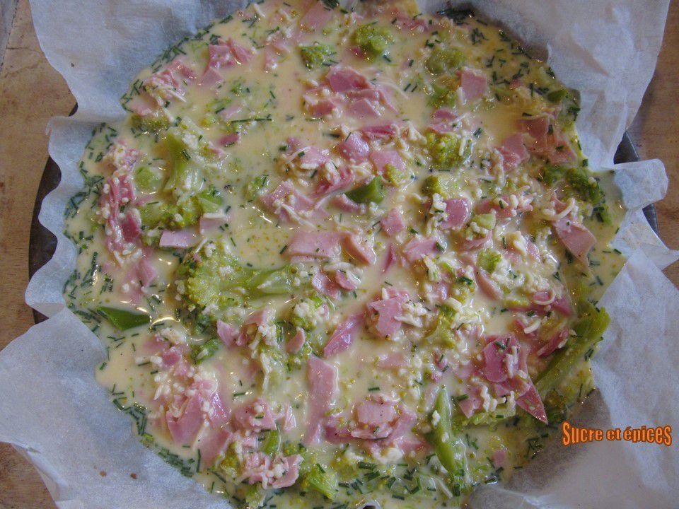 Quiche sans pâte au brocoli et jambon (sans gluten)