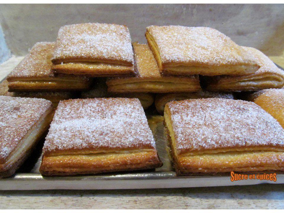 Biscuits feuilletés au sucre avec de la levure boulangère - recette facile