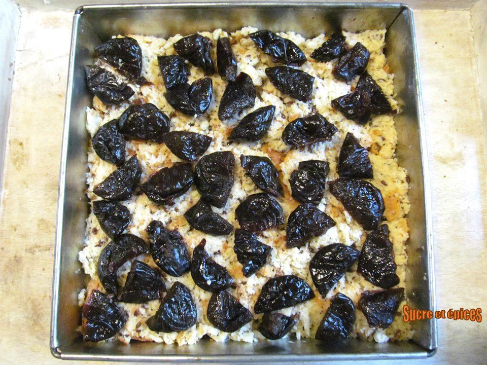 Pudding aux pruneaux, noix et Armagnac