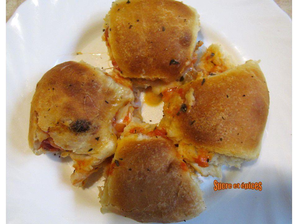 Pizza à partager en forme de boulettes - Pizza balls (végétarien)