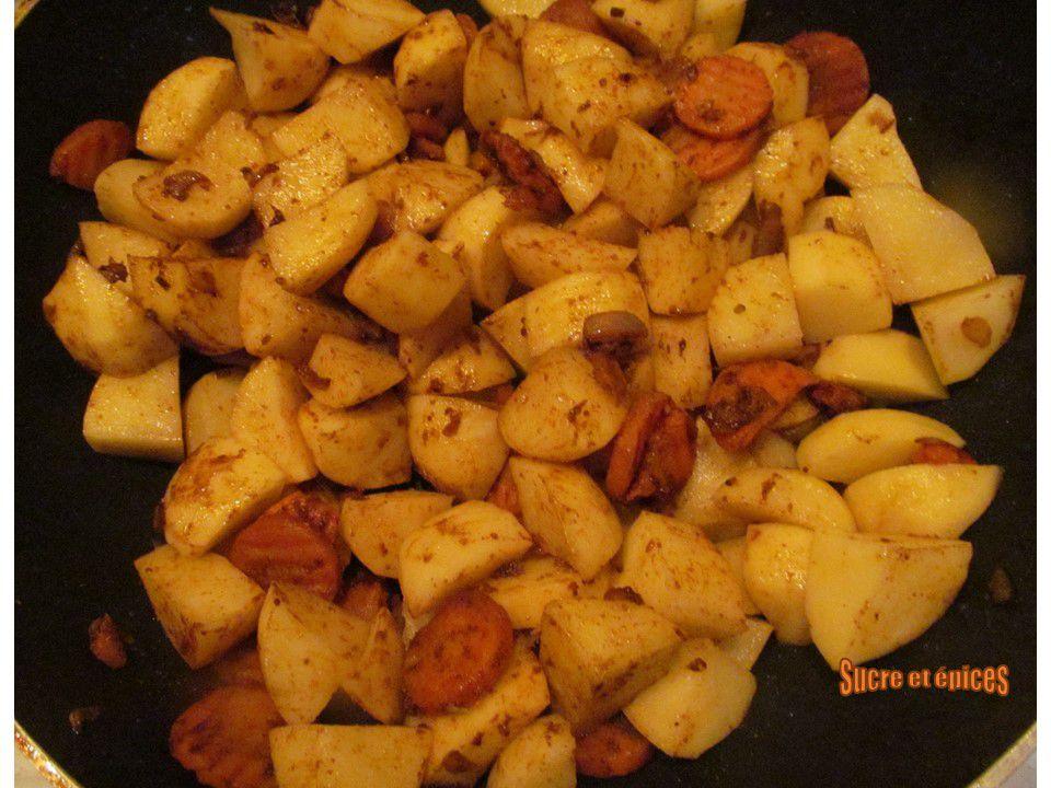 Saucisses de Toulouse mijotées aux pommes de terre et épices