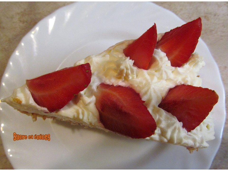Gâteau facile aux fraises et à la chantilly