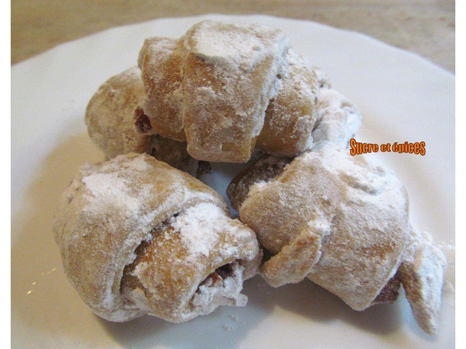 Mini croissants sablés aux loukoums - Cornulete cu rahat
