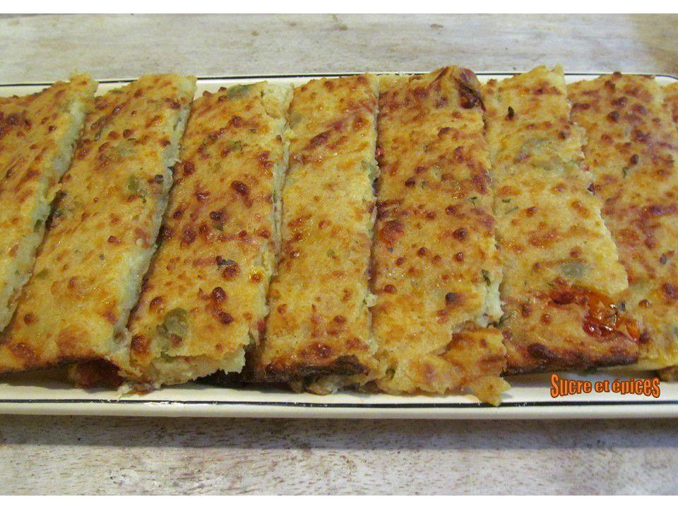 Bâtonnets façon pizza à base de pain