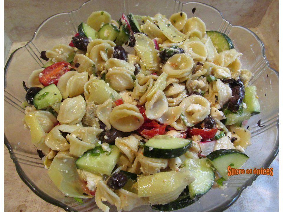 Salade de pâtes aux saveurs méditerranéennes
