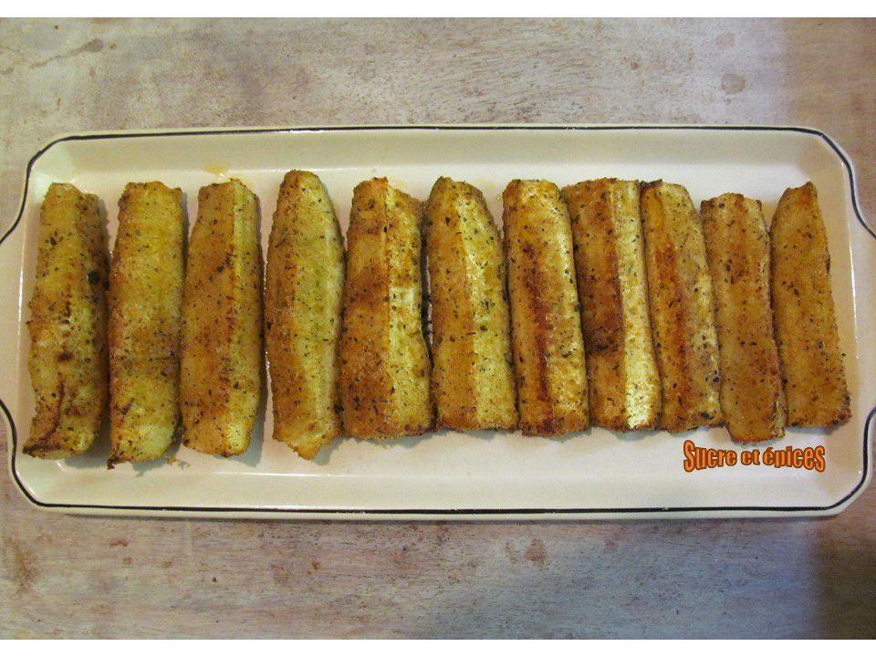 Bâtonnets de courgettes au parmesan et épices