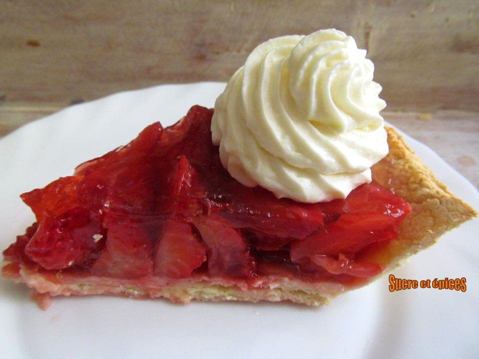 Tarte aux fraises facile et légère