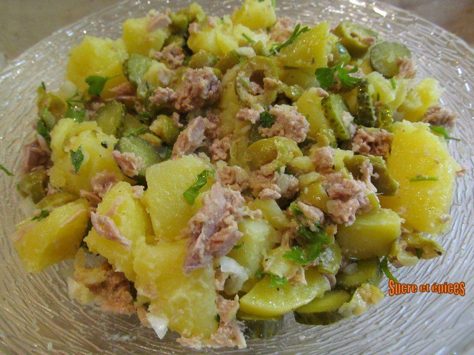 Salade de pommes de terre au thon et olives