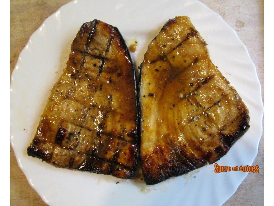 Steaks d'espadon au miel et au citron vert