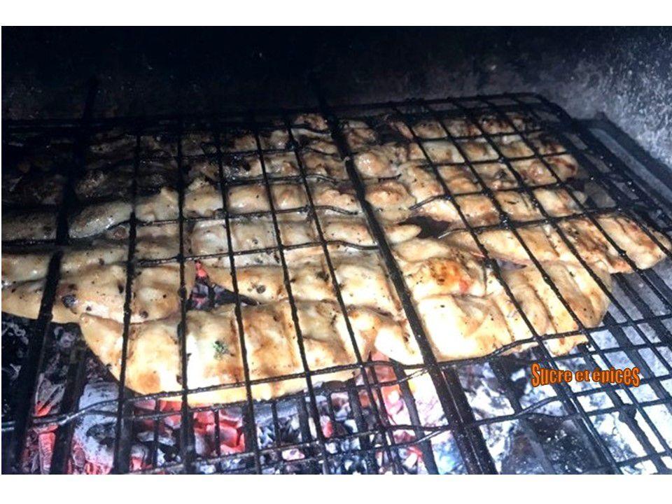 Aiguillettes de poulet grillées façon thaï