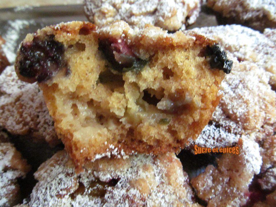 Muffins aux fruits façon cobbler