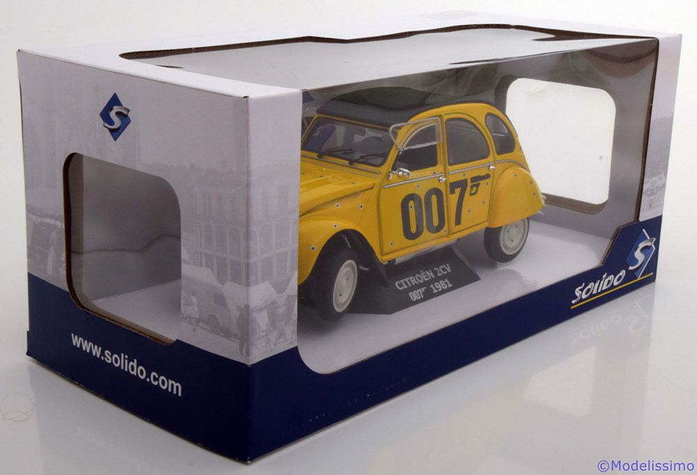 La 2CV 007 disponible à l'échelle 1:18 chez Solido