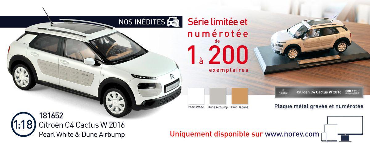 Norev propose le Citroën C4 Cactus à l'échelle 1/18 !