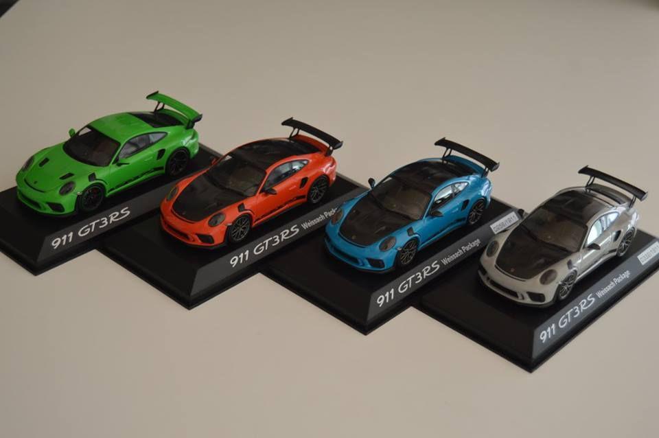 La nouvelle Porsche 911 (991) GT3 RS restylée déjà à l'échelle 1:43 !