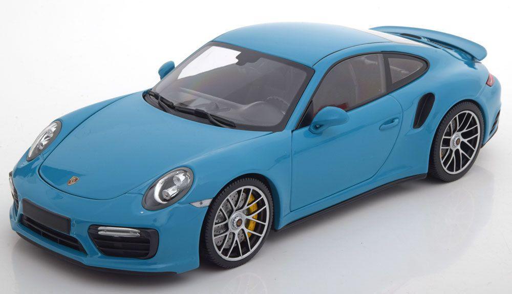1/18 : la Porsche 911 (991) Turbo S Minichamps en Bleu Miami est dispo !