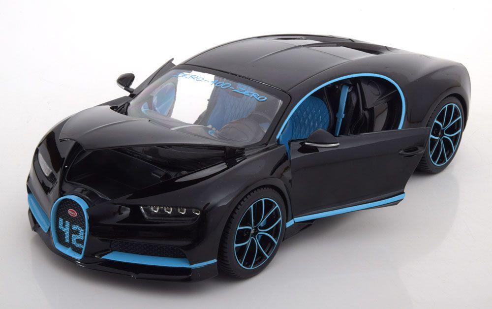 1/18 : Bburago a reproduit la Bugatti Chiron 0-400-0 !