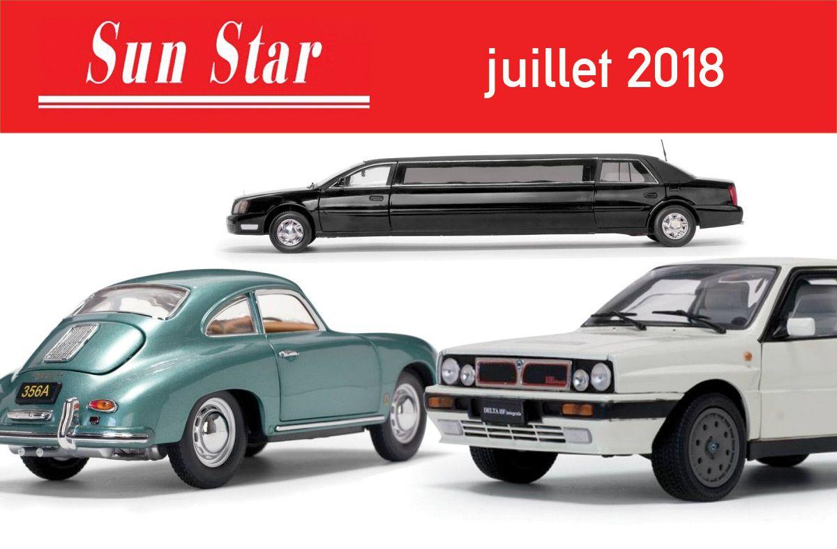 1/18 : Huit nouveautés chez Sun Star... Dont une limousine !