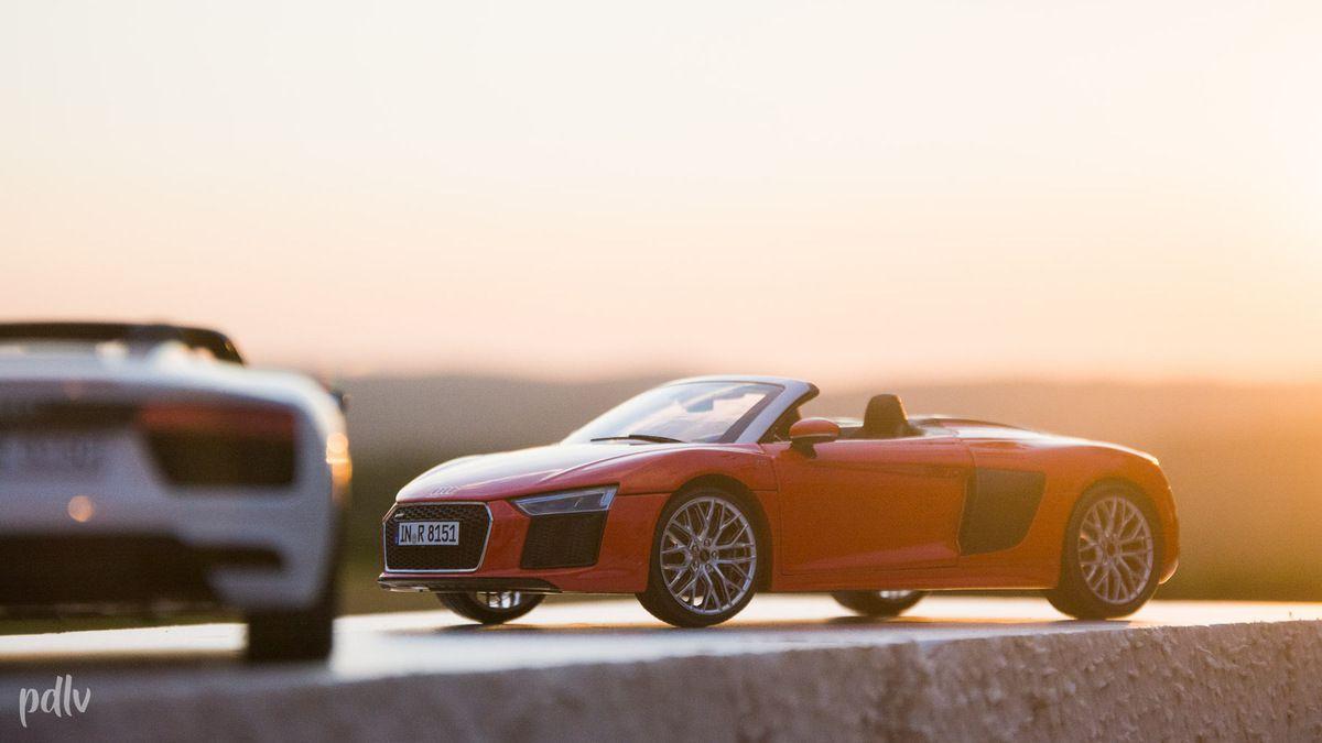 1:18 Audi R8 V10 Spyder iScale : Une miniature honnête