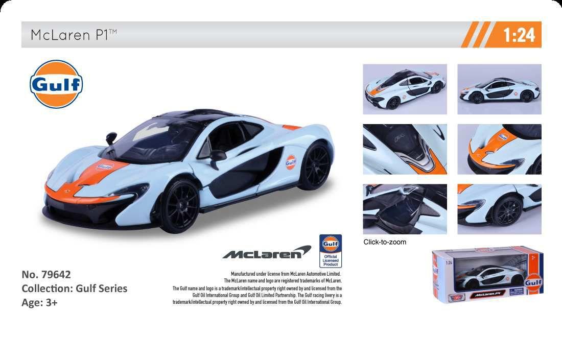 1/24 : MotorMax lance une collection Gulf Series de 10 modèles