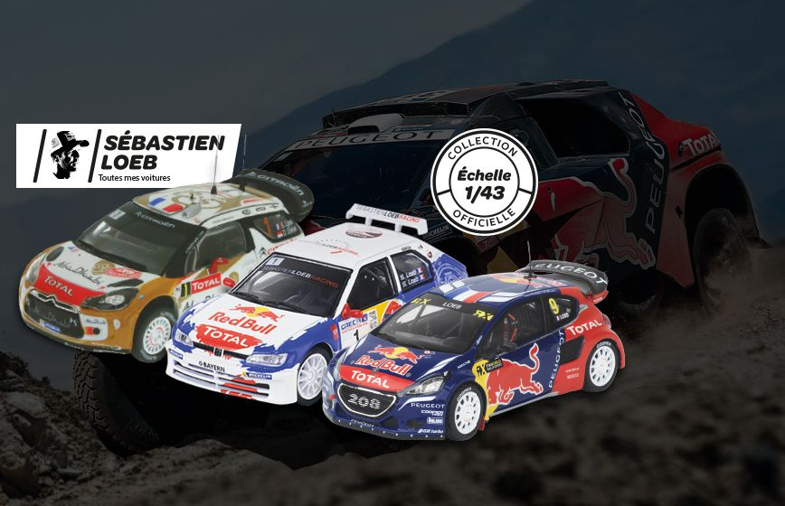Altaya : la collection des voitures de course de Loeb en miniatures
