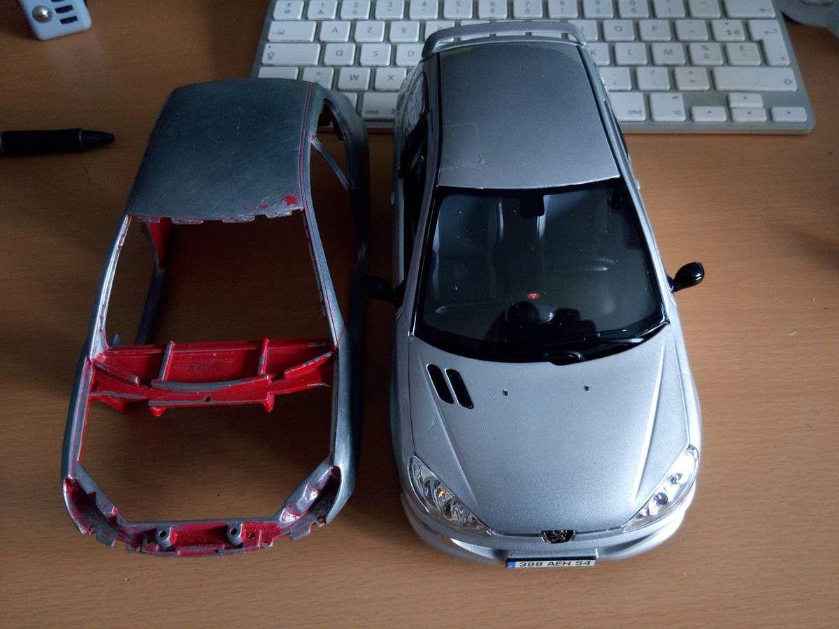 1/18 : Et soudain la Peugeot 206 HDI exista en miniature...