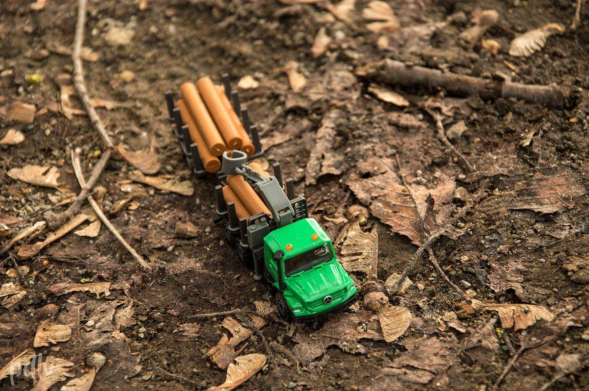 1/87 Mercedes Zetros forestier, Majorette (Farm Set, 212057430)