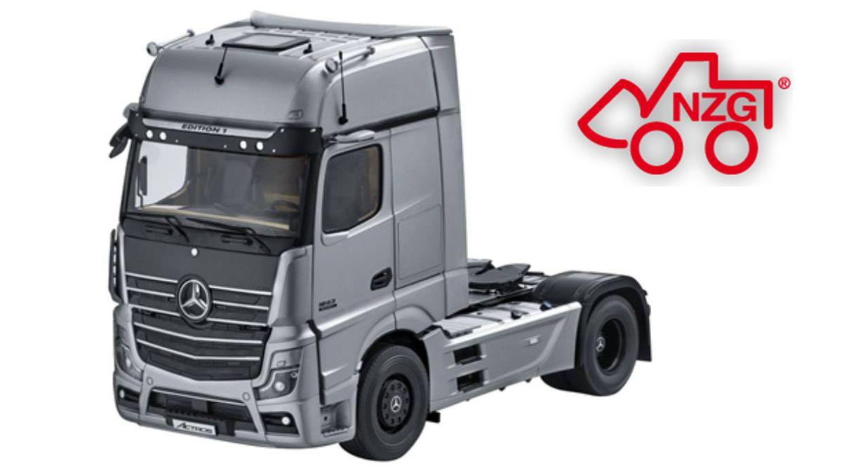 1/18 : NZG prépare le Mercedes Actros Edition 1