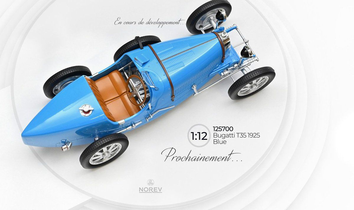 1/12 : Norev prépare une jolie Bugatti Type 35