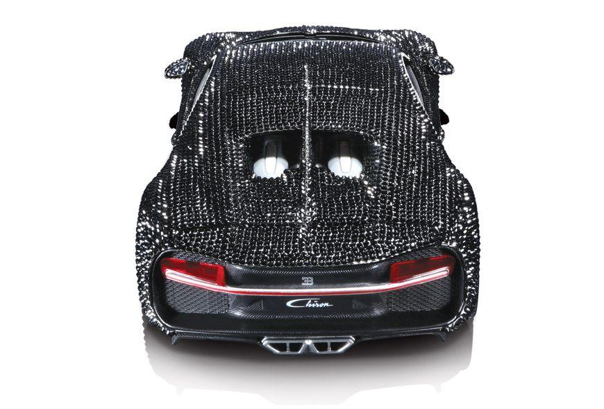 1/18 : Cette Bugatti Chiron Bburago est couverte de diamants