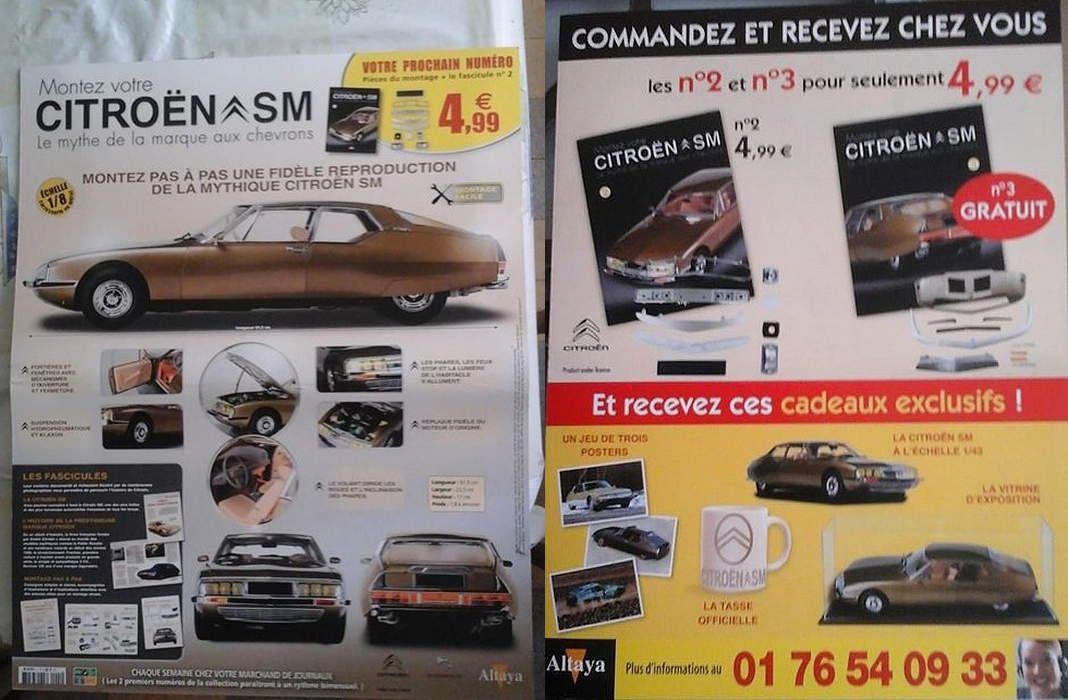 Altaya : Montez votre Citroën SM