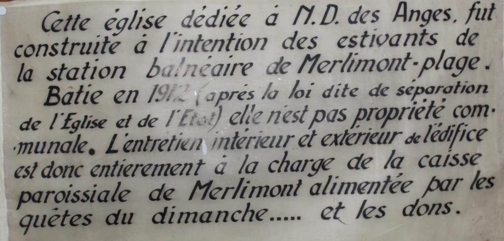 Patrimoine Religieux : l'Eglise Notre-Dame des Anges de Merlimont-Plage...
