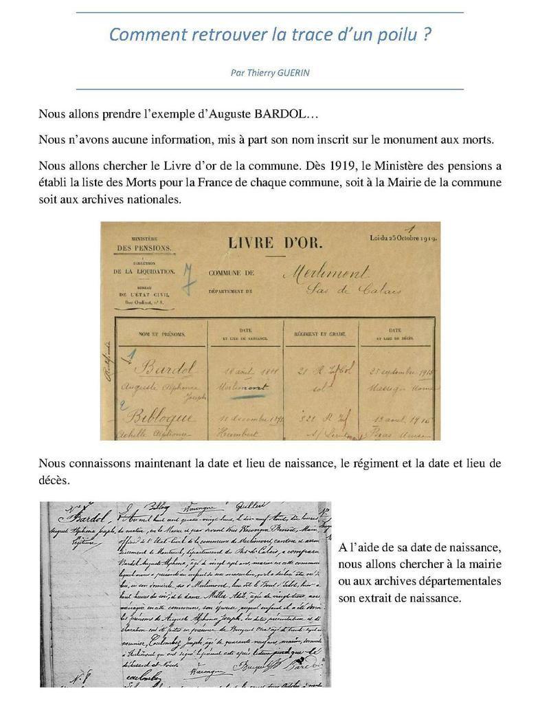 "Merlimont 1918-2018  - Exposition : ""Nos Poilus Merlimontois"""