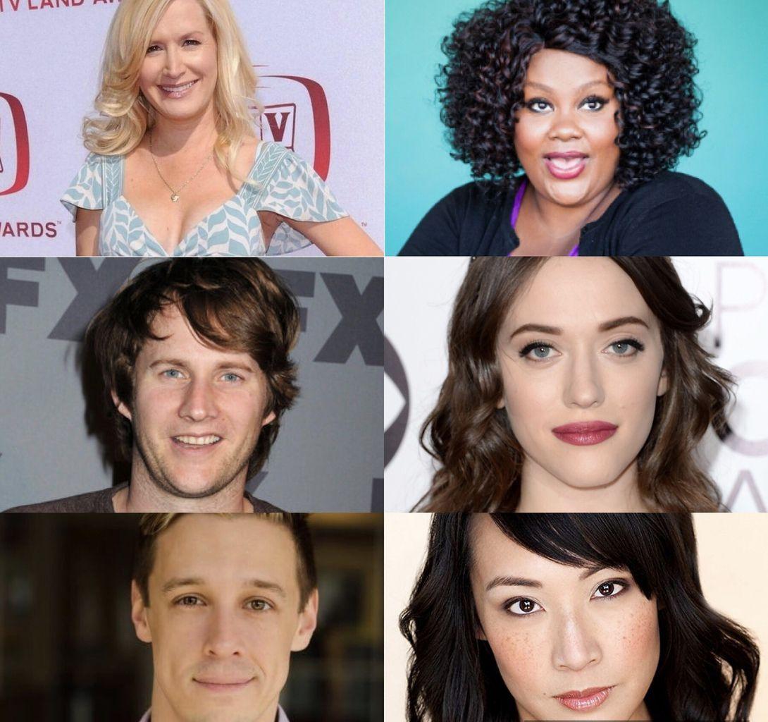 Kat Dennings (2 broke girls), Elizabeth Ho (Disjointed), Jason Michael Snow, Angela Kinsey, Derek Richardson et Nicole Byer.