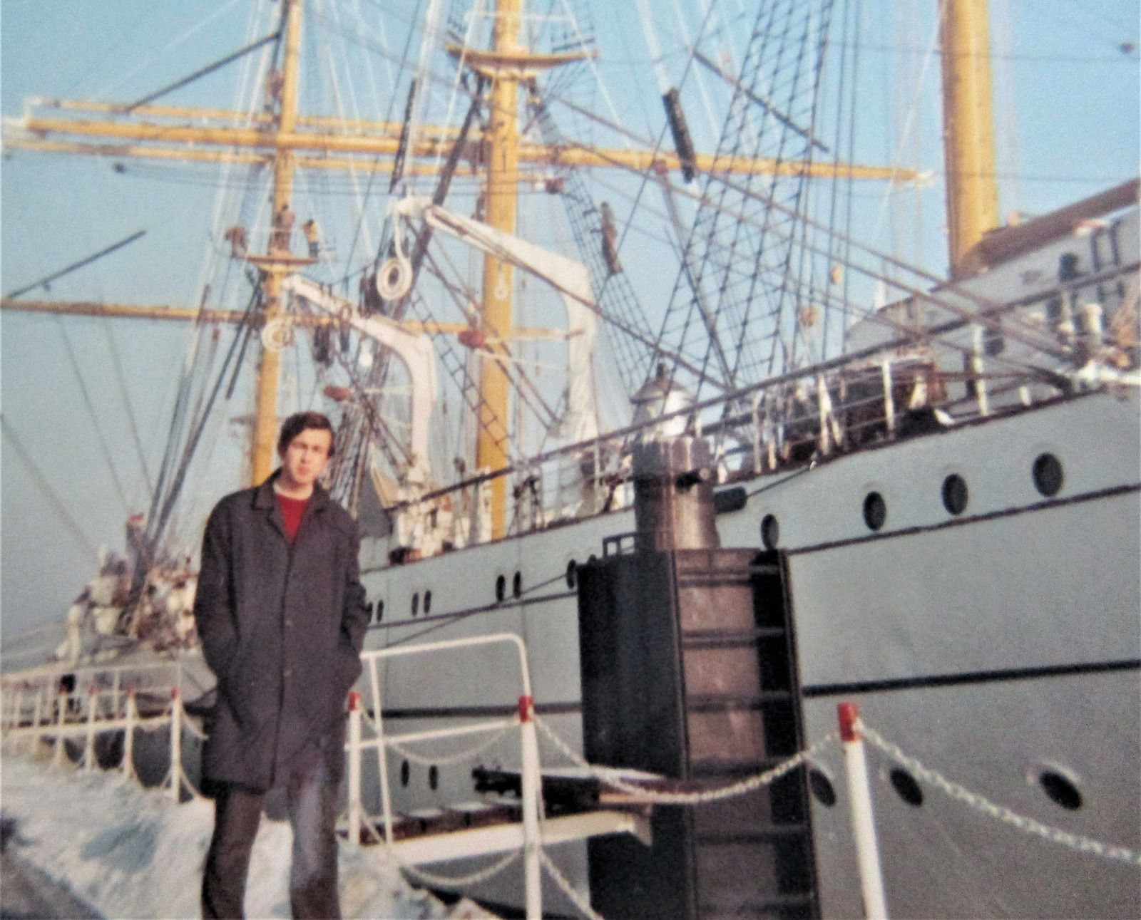 Gorch Fock in Kiel,   Winter 1969/70