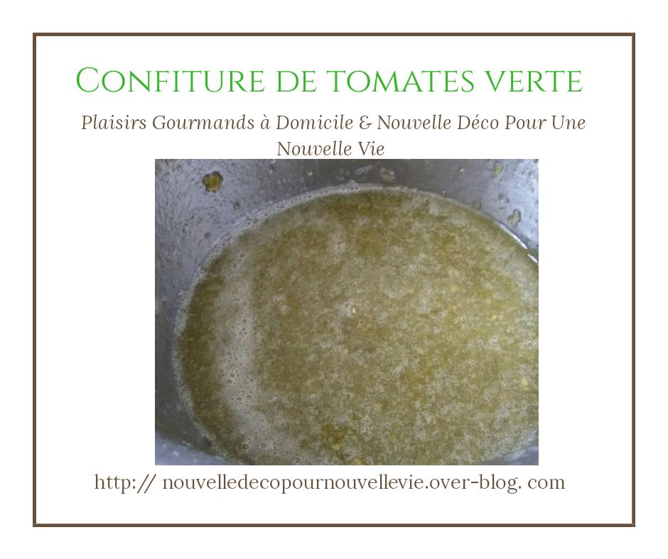 confiture de tomates verte