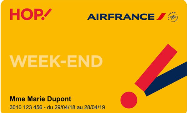 carte week end hop air france