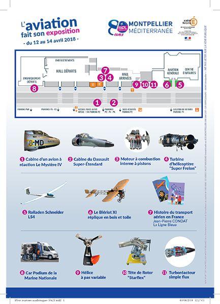 plan exposition aeroport montpellier aviation