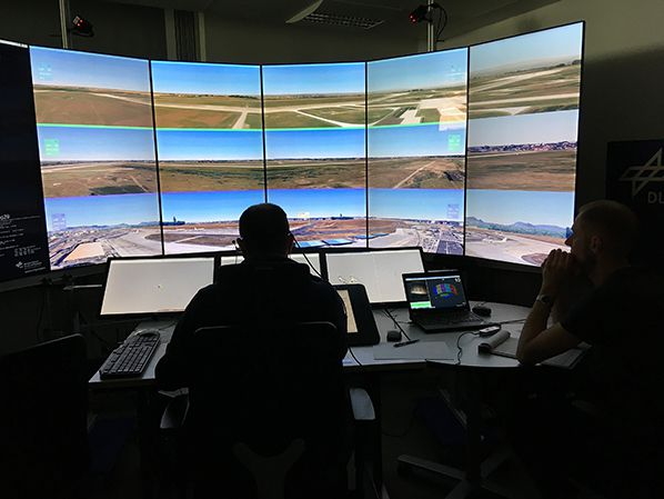 High concentration during V2 validation at the DLR Air Traffic Validation Center Copyright: Frequentis AG