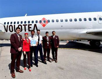 equipage vol inaugural volotea montpellier munich