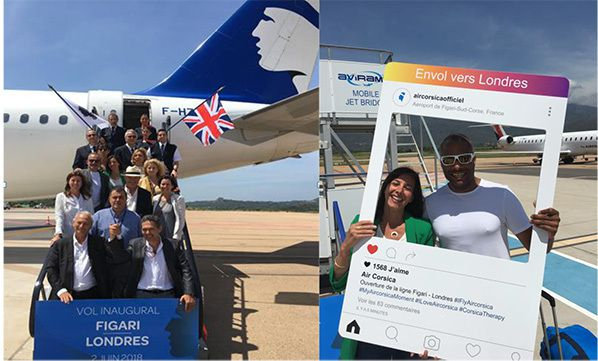 vol inaugural figari londres stansted air corsica