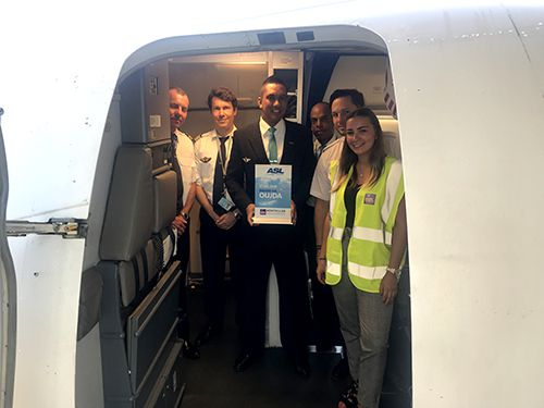 equipage asl airlines vol inaugural montpellier oujda