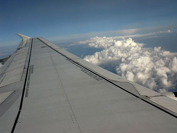sky plane clear