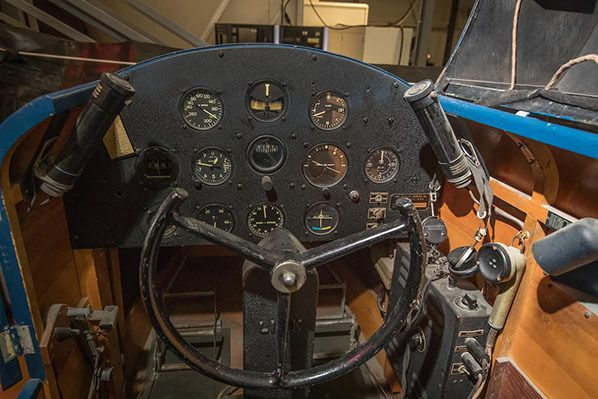 he Link Trainer used to train military pilots in the 1940's is on display in the university's Advanced Flight Simulation Center. (Embry-Riddle/David Massey)