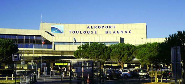 toulouse blagnac airport occitanie france